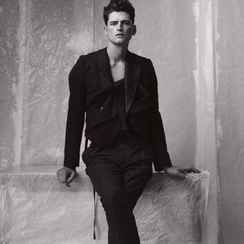 Sean Suits Up in Black & White Story for WSJ. Magazine