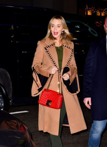 Emily Blunt's Braided Trench Coat Is Literally Cuter Than I Am