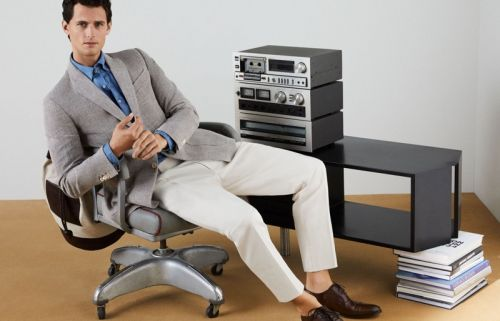 Garrett Dons Office Style for Pedro del Hierro Spring '20 Campaign