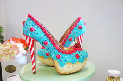 These fancy 'cakes' are actually high-heel shoes