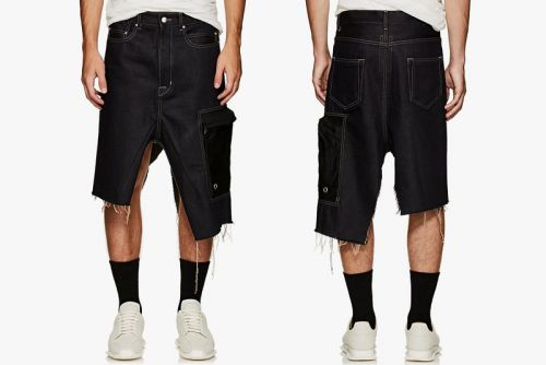 Rick Owens's Italian-Made Men's Denim Skirt Will Set You Back $1,160 USD