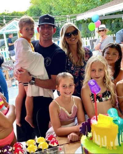 Tarek El Moussa, Heather Rae Young and Christina and Ant Anstead Reunite At Taylor's Birthday Party