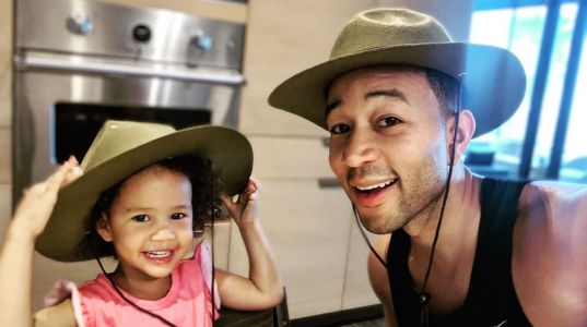 John Legend Shares Adorable Photo of Fashionista Daughter: 'Styled by Luna'