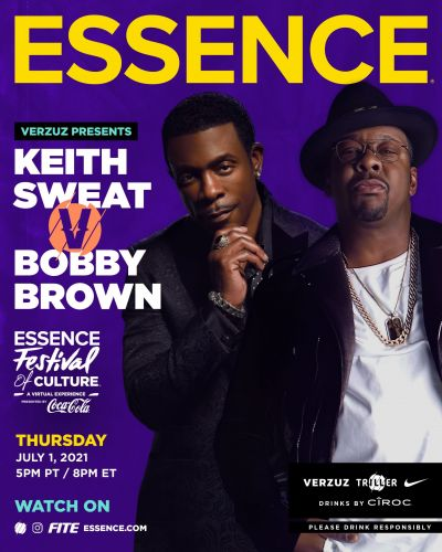 ESSENCE Festival x Verzuz: Bobby Brown & Keith Sweat Are Going Hit For Hit