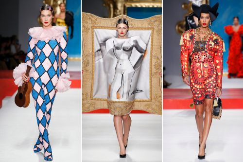 Moschino does a play on Picasso at Milan fashion week