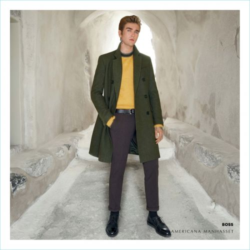 Gabriel-Kane Day-Lewis Travels to Santorini for Americana Manhasset Fall '18 Fashion Book