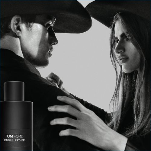 Bonner Bolton Joins Linda Helena for Tom Ford Ombré Leather Fragrance Campaign