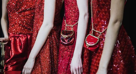 Emporio Armani AW19: Scarlet fever, sparkle and sixties glamour