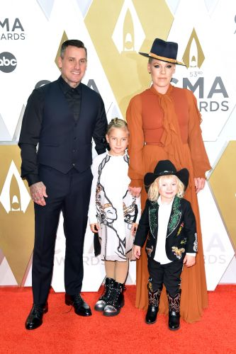 Pink, Carey Hart and Kids Willow and Jameson Look Adorable on the 2019 CMA Awards Red Carpet