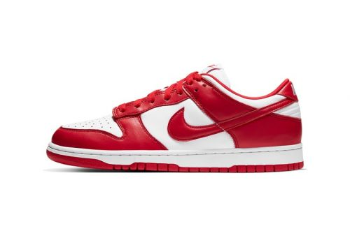 """A Detailed Look at Nike's Dunk Low """"University Red"""""""