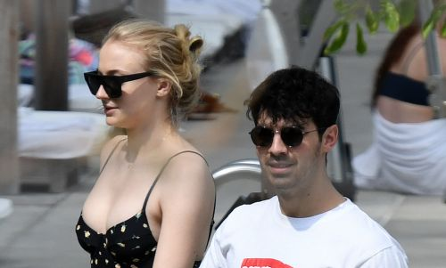 Sophie Turner Shows Off Her Curves in Black Swimsuit During Miami Trip With Fiancé Joe Jonas