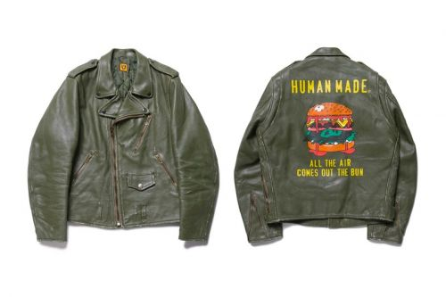 HUMAN MADE Crafts High Oz. Leather Biker Jacket for FW19
