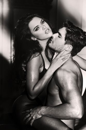 Charlie & Kelsie Couple for GUESS Seductive Noir Fragrance Campaign