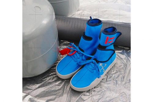 """Off-White™'s CST-100 """"Moto Wrap"""" Sneaker Surfaces in Blue"""
