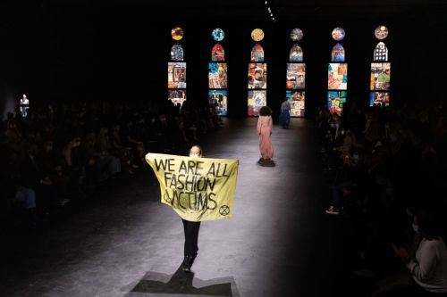 An Extinction Rebellion Protestor Just Gatecrashed the Dior Runway