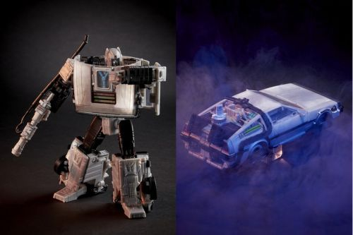 'Transformers' and 'Back To the Future' Collide On Shape-Shifting Gigawatt DeLorean Figurine