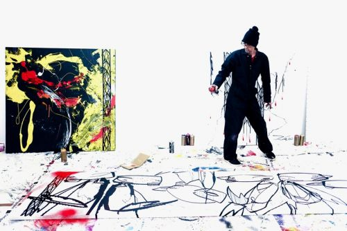 "Futura Reveals Work-In-Progress Paintings for Upcoming ""Abstract Compass"" Exhibit"