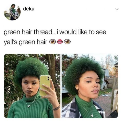 My Social Media Pick Of The Weekend: Green Hair With Envy