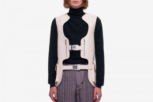 A-COLD-WALL* Drops Cream Ivory Synthetic Modern Utility Vest