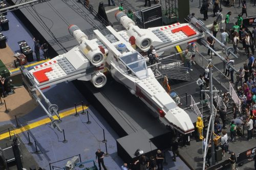 LEGO Built a Life-Sized 'Star Wars' X-Wing for the Paris Air Show