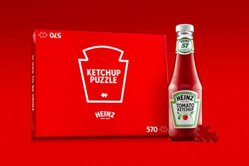 Heinz Ketchup Red Puzzle Is Now Available for Purchase