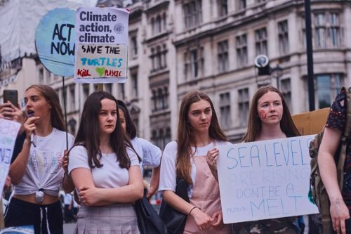 Thousands of climate activists gather in London for the Time is Now march