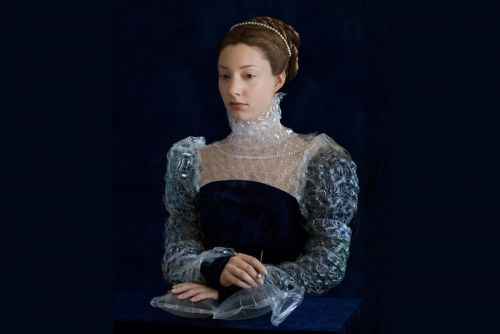Artist Turns Recycled Plastic Packaging Into Renaissance Costumes