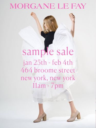 Morgane Le Fay Sample Sale, 1/25 - 2/4, New York, NY