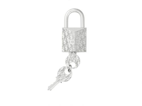 Dior Drops $570 USD Oblique Padlock Key Ring