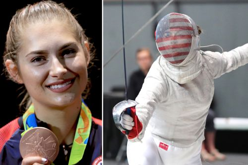 Competing in the Olympics made sent fencing star Monica Aksamit broke