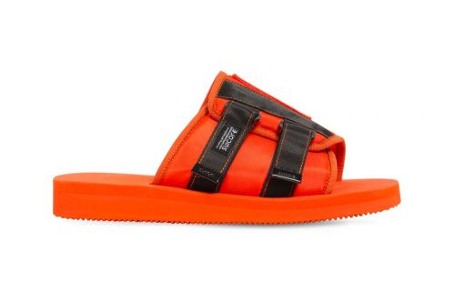 Palm Angels & Suicoke's Patch Slider Sandals Arrive in Neon Orange