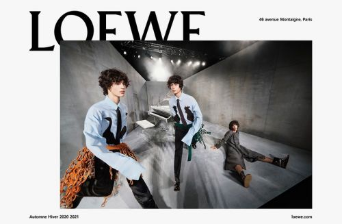 LOEWE Explores Distortion Through Faces, Spaces & Luxury Bags in Men's FW20 Campaign
