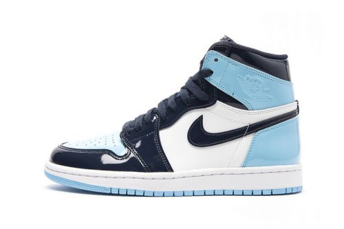 """Don't Miss Out on the WMNS Air Jordan 1 Retro High OG """"Blue Chill"""" Patent on Stockx"""
