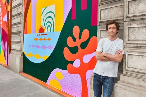 Luckylefthand Enlivens Louis Vuitton Headquarters With Vibrant Wall Painting