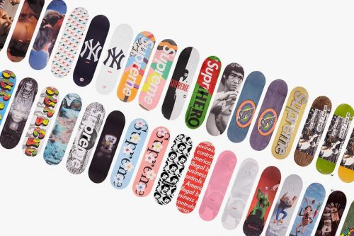 Bonhams London to Auction 126 Supreme Skate Decks