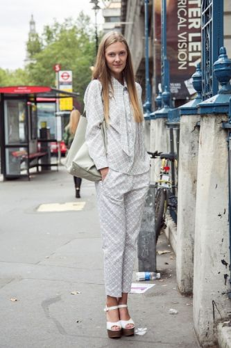 Pyjamas for the day? It's a thing. Team with chunky white