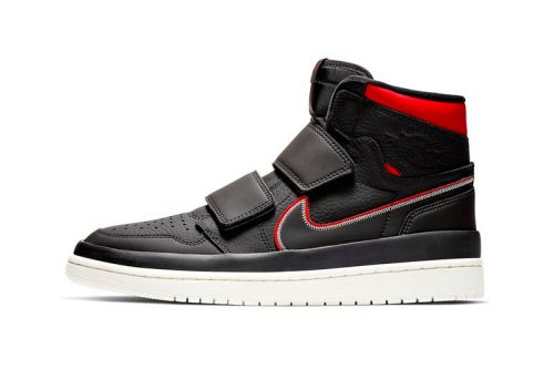 The Air Jordan 1 High Double Strap Gets Done up in Black & Red