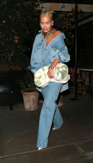 Rita Ora Just Sported the Edgiest Canadian Tuxedo We've Ever Seen