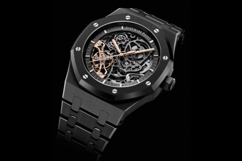 Audemars Piguet's Openworked Royal Oak Gets a Blacked-Out Ceramic Makeover