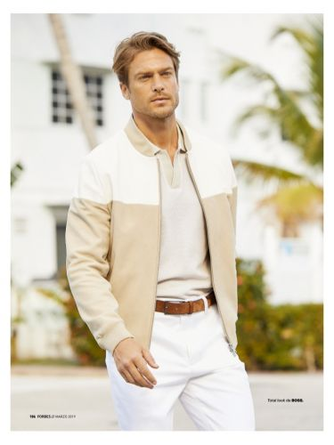 Jason Morgan Dons Chic Neutrals for Forbes España