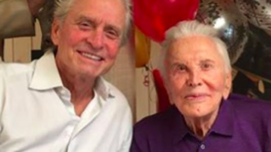 Kirk Douglas Rings In 101st Birthday With Son Michael And Famous Family