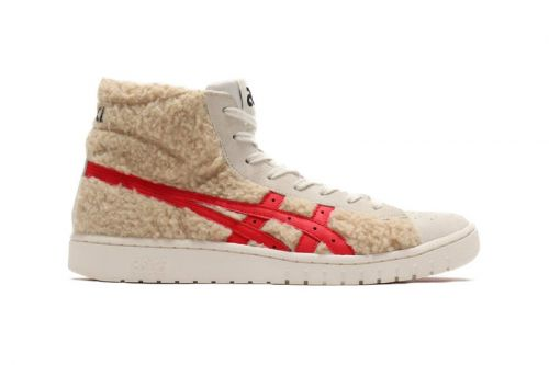 ASICS Drops Cream-Colored Woolen GEL-PTG MT Sneakers