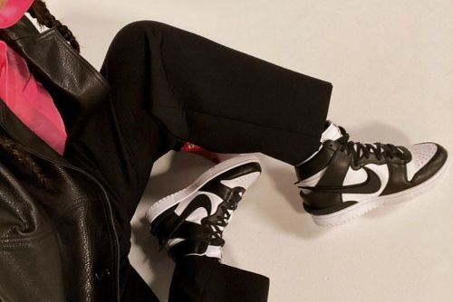 "Yoon Ahn Teases AMBUSH x Nike Dunk High ""Black/White"""