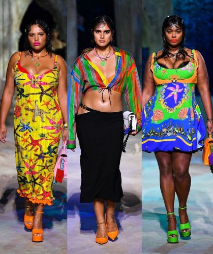 Three plus-size models just made fashion history at Versace