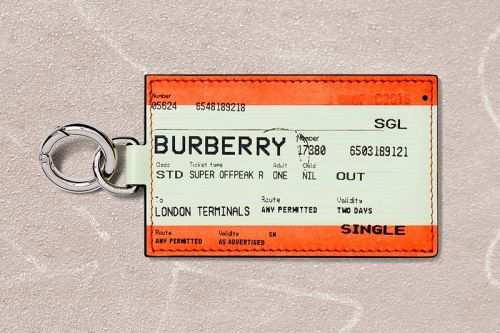 Burberry Issues a Train Ticket-Inspired Keyring Available for Just 24 Hours