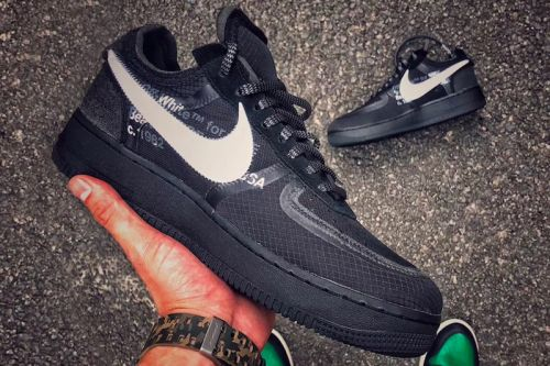 The Off-White™ x Nike Air Force 1 Surfaces in a New Black Colorway