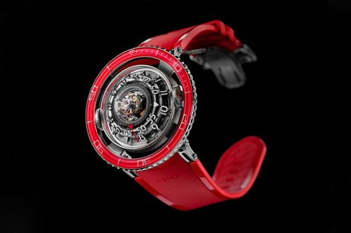 MB&F's HM7 Aquapod Platinum Red Watch Is Inspired by Deep-Sea Jellyfish