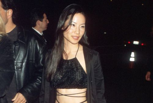 Great Outfits in Fashion History: Lucy Liu in a Strappy Black Jumpsuit