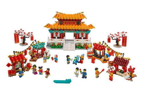 LEGO Captures the Spirit of Lunar New Year With Lion Dance & Temple Fair Sets
