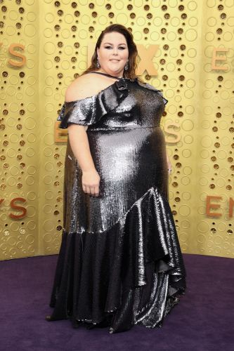 'This Is Us' Star Chrissy Metz Rocks a Silver Metallic Dress at the 2019 Emmy Awards